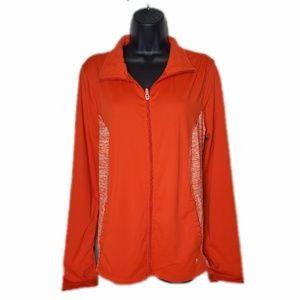 Orange Danskin Zip Up Size 2XL